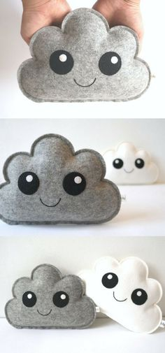 Cloud pillow for a child& room or bedroom . - Baby decoration Cloud pillow for a child& room or bedroom … Felt Diy, Felt Crafts, Diy And Crafts, Cloud Cushion, Cloud Pillow, Baby Accessoires, Sewing Projects, Diy Projects, Baby Mobile