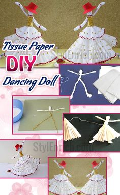 Do you believe that you can make dancing doll from tissue paper? Obviously, Unbelievable! But, yes I'm giving you easy tutorial on How to Make Amazing Dancing Doll from Tissue Paper? Just grab this #DIYPaperCraft idea, you will definitely fall in love with it!