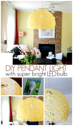 DIY pendant light with super bright led bulb by Place of My Taste