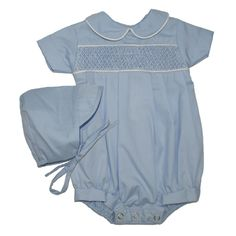 Alfie Blue Plain - Hand-smocked top (soft cotton lining to inside of smocking) popper fastening to bottom with button fastening at back. Available in sizes and months. Smocking Plates, Cute Babies, Babies Stuff, Cute Baby Clothes, Christening, Children, Kids, Ruffle Blouse, Rompers