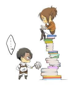 Lol,this is so like Levi. Poor Hanji,always putting up with his shit. But that's okay, he puts up with her shit too