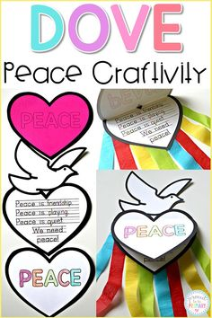 Beautiful Peace Craft: So Easy and Inspirational for your Class! Teach kids about peace in the classroom and create this FREE dove peace foldable writing craft for Remembrance Day, Veteran's Day, MLK Day, International Peace Day. Poppy Craft For Kids, Art For Kids, Crafts For Kids, Remembrance Day Activities, Remembrance Day Poppy, Paper Plate Poppy Craft, Memorial Day Poppies, Classroom Wreath, Classroom Board