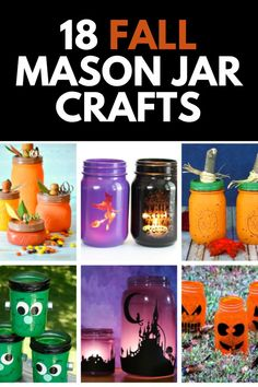 Fall is upon us, and that means spooky and fun crafting! Here, we share 18 of our FAVORITE fall-themed mason jar crafts you can start today! Get the full tutorials at MomDot.com!