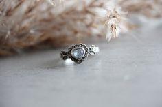 Bague argent bleu vintage coeur pierre bijoux accessoire femme cadeau mode ancien brocante collection amour engagement fiancailles fantaisie