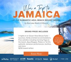 contest to win a trip to Jamaica Vacation Destinations, Dream Vacations, Dream Trips, The Places Youll Go, Places To Go, Jamaica Travel, Win A Trip, Free Travel, Things I Want