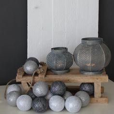Cotton Ball Lights Wit- Stone- Antraciet Zilver
