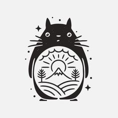 6,164 отметок «Нравится», 90 комментариев — Liam Ashurst (@liamashurst) в Instagram: «Totoro!  #graphicdesign #design #art #artwork #drawing #handdrawn #tattoo #studioghibli #ghibli…»