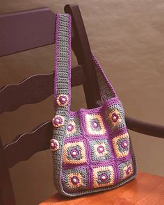 Talking Crochet ... Beaded Squares Tote.Another fab bag....leaning more towards the crochet these days than knitting,but love them both so much.