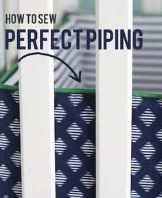 how to sew perfect piping