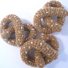 Crocheted Play Food Soft Pretzels by CrochetNPlayDesigns on Etsy www.etsy.com