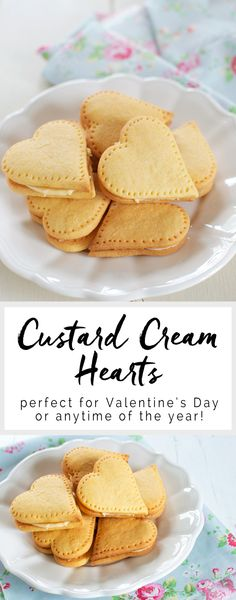 Custard Cream Hearts - perfect for Valentine's Day! #valentinesday #valentines #cookies #nigella