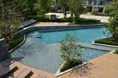 Keratiles Ceramic กระเบื้องสระว่ายน้ำและตกแต่ง Swimming Pool Tiles, Outdoor Decor, Home Decor, Pool Tiles, Interior Design, Home Interior Design, Home Decoration, Decoration Home, Interior Decorating