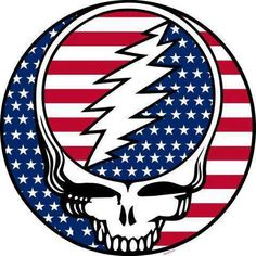 Grateful Dead Patriotic Red White and Blue Stealie Grateful Dead Image, Grateful Dead Poster, Grateful Quotes, Grateful Dead Wallpaper, Heath Ledger Joker Quotes, Dead Images, Dead And Company, Happy 4 Of July, Soul Music