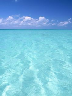 Teal water and blue sky wallpaper Image Nature, All Nature, Sea And Ocean, Ocean Beach, Dream Vacations, Vacation Spots, Cruise Vacation, Blue Sky Wallpaper, Foto Picture