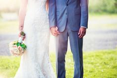 Preppy Style Bride and Groom