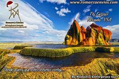 Nuestras tasas a las 09:30am $ 1.776 - € 1.917.  Fly Geyser, también conocida comola mosca del rancho del géiseres una pequeña geotérmica hecho por el hombregéisersituado en el Condado de Washoe, Nevada. Fly Geyser fue creado accidentalmente durante la perforación de pozosen 1964, mientras que la exploración de fuentes de energía geotérmica.