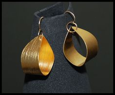FASHION 24K GOLD PLATED EARRINGS, GOLD FILLED HOOK - EXCLUSIVE HANDMADE JEWELRY #Handmade