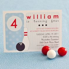 BOWLING Birthday Party Printable INVITATION  by ShopAndersRuff, $18.00