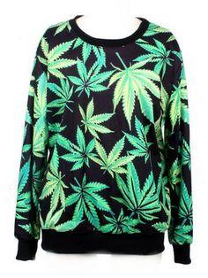 Women's Marijuana Leaf Sweater - $14.50 - http://getazongbong.com/product/womens-marijuana-leaf-sweater/