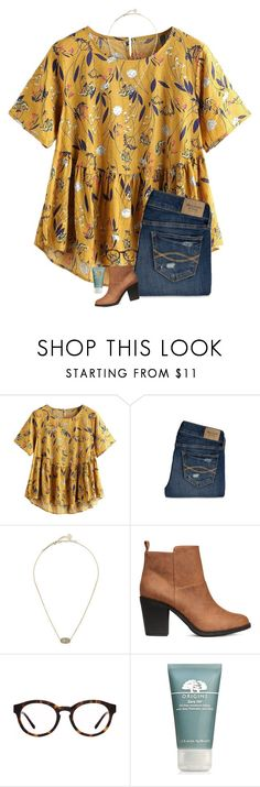 """""""what are you going as for halloween?"""" by midwest-grace ❤ liked on Polyvore featuring Abercrombie & Fitch, Kendra Scott, H&M, Tory Burch and Origins"""
