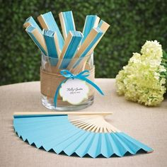 Exclusively Weddings | Colored Paper Fans
