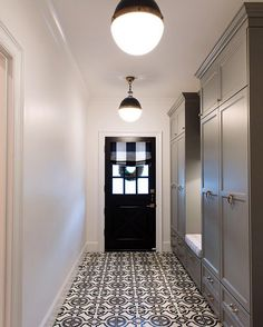 This tile is too flowery but this is the idea for the mudroom...cement tiles