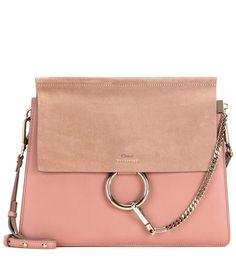 Cuir rose et daim nude tout ce que aime chez Leasy Luxe ! // www.leasyluxe.com #pink #chloé #leasyluxe