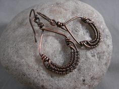 Beautiful copper handmade earrings with by DreaminnCopperDesign