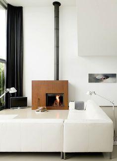 The Best 2019 Interior Design Trends - Interior Design Ideas Modern Scandinavian Interior, Scandinavian Style, Modern Interior Design, Interior Architecture, Interior And Exterior, Metal Fireplace, Home Fireplace, Fireplace Design, Fireplaces