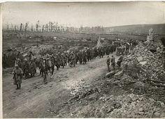 WWI, Samogneux, German prisoners of war.