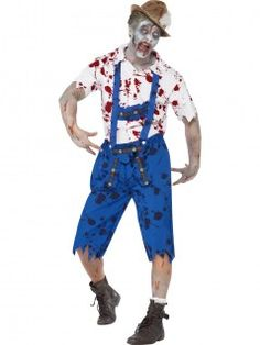 This Zombie Bavarian Male Costume consists of blue lederhosen shorts with braces and a white shirt with tattered edges and blood splatters. - See more at: http://www.partyonwarehouse.com/fancy-dress/Product_Detail.php?Product=32863&parent=1251&Title=Zombie%20Bavarian%20Male%20Costume#sthash.zkoNDudJ.dpuf