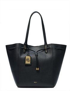 bbbf9a54fc Lauren Ralph Lauren Leather Oxford Tote