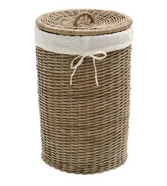 Decorative Laundry Hamper Sea Grass Linen Laundry Basket With Lidhand Woven Measures 59