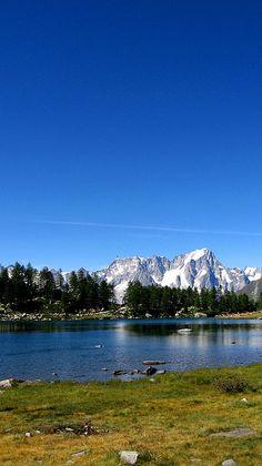Arpy Lake, Valdigne, Valle d'Aosta, Italy