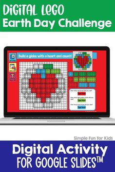 Ten fun and engaging EDITABLE Earth Day-themed digital LEGO challenges for distance learning with Google Slides and Google Classroom. Students can practice skills such as copying & pasting, dragging & dropping, typing in text boxes, and counting in a super-engaging way. Earth Day Activities, Number Activities, Kids Learning Activities, Sensory Activities, Infant Activities, Teaching Kids, Lego Challenge, How To Teach Kids, Learning Objectives