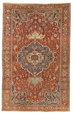 A HERIZ CARPET, NORTHWEST PERSIA