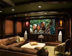 Home automation, smart home and audio theater room decor, home theater room Theater Room Decor, Home Theater Rooms, Home Theater Design, Cinema Room, At Home Movie Theater, Home Theater Projectors, Atlanta Homes, Home Cinemas, Entertainment Room