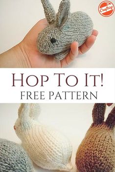Mesmerizing Crochet an Amigurumi Rabbit Ideas. Lovely Crochet an Amigurumi Rabbit Ideas. Easy Knitting Projects, Yarn Projects, Knitting For Kids, Knitting Ideas, Knitting Patterns Free, Free Knitting, Baby Knitting, Knitting Toys, Crochet Rabbit Free Pattern