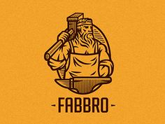 Fabbro by Nagual Typography Logo, Graphic Design Typography, Graphic Design Illustration, Logo Inspiration, Logo Character, Logo Face, People Logo, Fox Logo, Hand Drawn Logo