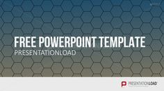 PresentationLoad | Free PowerPoint Template Honeycombs