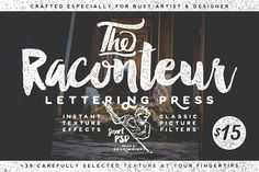 Raconteur Lettering Press by Gearwright on Creative Market