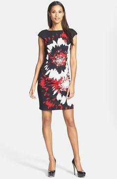 Maggy London Print Ponte Sheath Dress available at #Nordstrom    #dress #springfashion