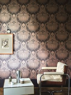 Lotus Wallpaper by Farrow & Ball Lotus Wallpaper, Art Deco Wallpaper, Metallic Wallpaper, Damask Wallpaper, Home Wallpaper, Colorful Wallpaper, Designer Wallpaper, Salon Wallpaper, Paintable Wallpaper