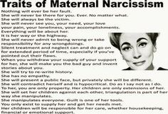 Traits of maternal narcissism - Nothing will ever be her fault. Description from pinterest.com. I searched for this on bing.com/images