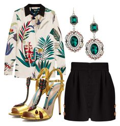 """Regain One's Composure"" by fashionforwarded ❤ liked on Polyvore featuring Dolce&Gabbana, Tory Burch, Gucci and Lydell NYC"