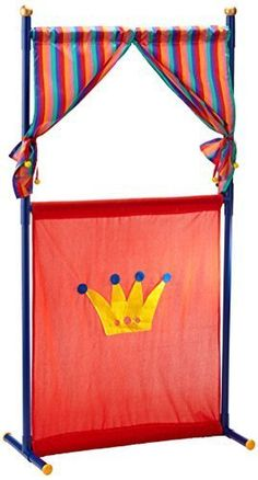 Easy DIY Puppet Theater with PVC and some fabric.