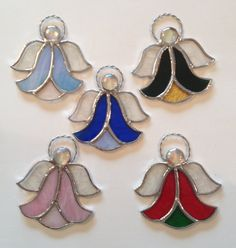 Stained Glass Angel Suncatchers or Ornaments by QTSG on Etsy