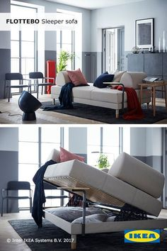Your living room is where friends and family come together, and that is especially true over the holidays. The IKEA FLOTTEBO sleeper sofa doubles as a bed and has storage space for extra bedding and pillows, making it perfect for overnight guests.