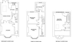 4 bedroom terraced house for sale in Woodrow, Woolwich, - Rightmove. Terrace Floor, Small Terrace, Layouts Casa, House Layouts, Victorian Terrace Interior, Victorian Homes, Kitchen Extension Victorian Semi, Plan Design, Layout Design