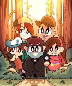 So Cute, It's a Mystery! Gravity Falls Chibis!! Dipper Y Pacífica, Dipper Pines, Gravity Falls Art, Low Gravity, Billdip, Reverse Falls, Fall Over, Star Vs The Forces Of Evil, Autumn Art